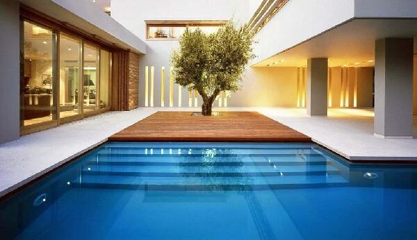 büyük villa ve rezidanslar için modern yüzme havuzu
