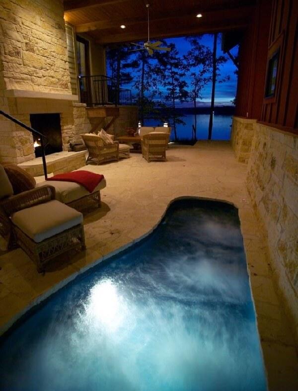 dar ve kapalı alanlar için villa içi skimmerli havuz modeli