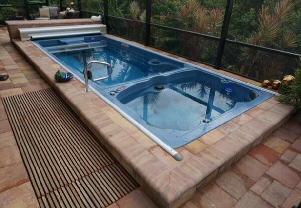 villalar için üstü otomatik kapanan Endless Pool havuz